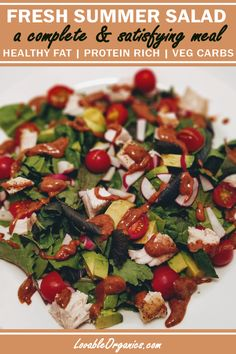 Tonight's dinner was a perfectly fresh, crisp, summer salad that satisfied my appetite, but did not heat up our kitchen!  This salad is packed with nutrition, vitamins, minerals, rich in protein and healthy fats. Healthy Fats, Healthy Recipes, Rich In Protein, Almond Butter, Summer Salads, Caprese Salad, Family Meals, Crisp, Minerals