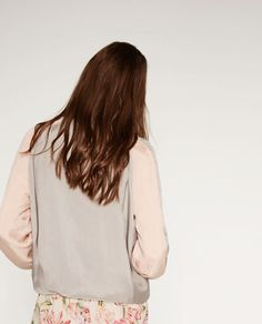 Image 4 of TWO-TONE BOMBER JACKET from Zara