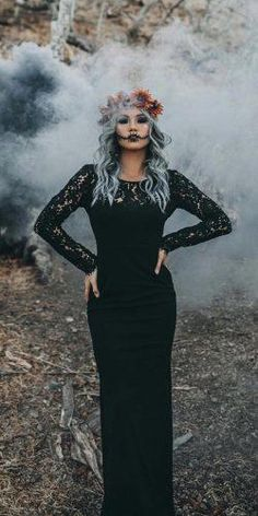 Since you are tired of traditional glamor you can choose extraordinary gothic style. Browse out the compilation of best gothic wedding dresses. Halloween Wedding Dresses, Black Wedding Dresses, Halloween Weddings, Black Weddings, Wedding Black, Modest Wedding, Halloween Photos, Halloween Fashion, Gothic Halloween