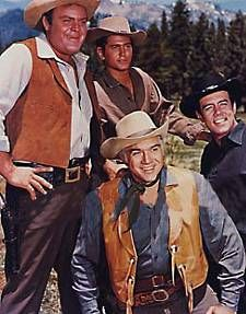 "Bonanza--I got my love of this show from my dad, whose favorite was ""Hoss"" Dan Blocker. I'll admit I had a teen crush on Michal Landon (Little Joe), and went on to enjoy him in Little House on the Prairie. This show ran for 14 yrs. & ended a year after Dan Blockers untimely death (after a surgery)."