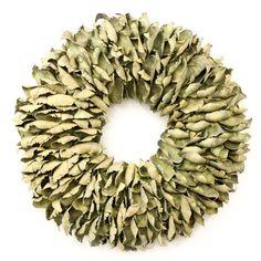 Krans Palmflower | olijfgroen - vanNatuurlijkKransen gemaakt van een natuurlijke materialen. woonaccessoires of muurdecoratie. Bezoek onze website voor meer Woonkamer inspiratie  en Interieur ideeën