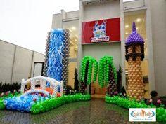 Princesas Balloon Tree, Balloon Hat, Love Balloon, Balloon Backdrop, Balloon Arrangements, Balloon Centerpieces, Centerpiece Decorations, Balloon Decorations, Balloon Ideas