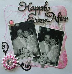 Lovely Heritage wedding scrapbook layout