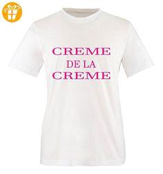 Comedy Shirts - CREME DE LA CREME - Mädchen T-Shirt - Weiss / Pink Gr. 86-92 - Shirts mit spruch (*Partner-Link)