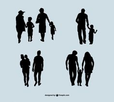 More than a million free vectors, PSD, photos and free icons. Exclusive freebies and all graphic resources that you need for your projects Silhouette Tattoos, Silhouette Painting, Silhouette Vector, Concept Models Architecture, Architecture People, Father Son Tattoo, Mom Dad Tattoos, Family Tattoos, Photoshop Essentials