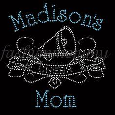 Cheer Mom  Custom Personalized Rhinestone by FashionMommyBoutique, $17.00
