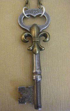 fleur de lis key .. would love it as a necklace