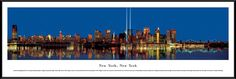 New York Skyline Panorama Picture Framed, New York