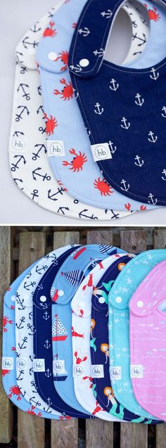NAUTICAL COLLECTION Charlie Bibs | Hemming Birds Boutique. Durable, Modern and Fashionable for your little one! Also make great gifts :)