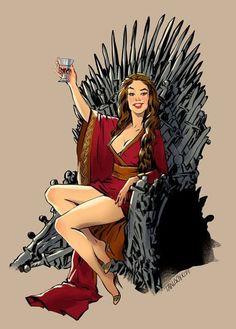 fan art of cersei by Andrew Tarusov