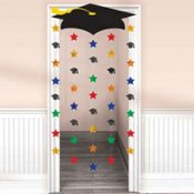 Grad Cap & Stars Graduation Door Curtain ensures a cool entrance to the graduation party! Grad Cap & Stars Graduation Door Curtain has a cardboard graduation cap. 5th Grade Graduation, Graduation Crafts, Graduation Party Planning, Graduation Party Supplies, Kindergarten Graduation, Graduation Decorations, Graduation Party Decor, School Decorations, In Kindergarten