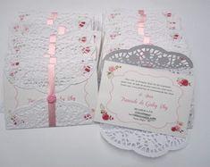 convite c/envelope rendado