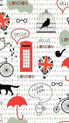 875733e3f3de London Wallpaper Downloads, Fabric Design, British Party, Collage, Kids  Rugs, Miscellaneous