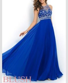 Blue prom dress, gorgeous