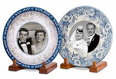 For a unique way to showcase the wedding days of family members, try this simple approach using vintage dishware. You can print the photos at Kodak Picture Kiosk. #wedding #photography #ideas #diy #craft