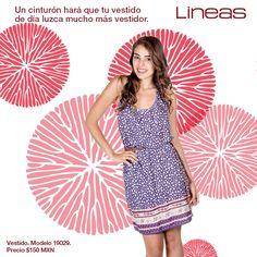 Vestido + Cinturón = Espectacular #Lineas #outfit #moda #tendencias #2014 #ropa #prendas #estilo #primavera #outfit #vestido #cinturon