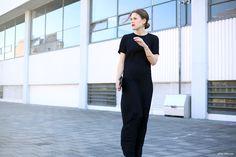 'TIE' - afterDRK - plain black dress