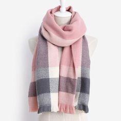 137ec075e787 Brand Desigual High Quality Plaid Scarf warm Winter Fashion Acrylic  Blankets Scarf Shawl For Women 140x140 free shipping
