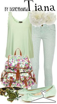 Tiana casual girl's outfit - The Princess and the Frog
