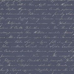 Floral Script (128040) - Esta Home Wallpapers - A calligraphy script of flower names in Latin such as rose, tulip delphinium and bougainvillea. Shown here in navy blue. Please request a sample for true colour match.