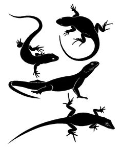 Lizard silhouettes Animals & Nature custom vinyl decals for home, office, or auto.  http://www.etsy.com/shop/AngelBabyVinyl?ref=search_shop_redirect