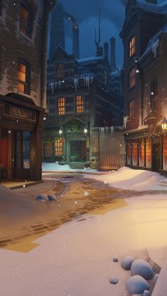 painting was discovered by katerinka. At We Heart It you can create your own vis … – wallpaper winter Wallpaper Winter, Christmas Wallpaper, Wallpaper Natal, Wallpaper Art, Wallpaper Lockscreen, Episode Backgrounds, Anime Scenery Wallpaper, Harry Potter Wallpaper, Winter Scenery