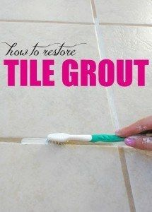 Learn how to clean your dirty, dingy grout with this simple homemade grout cleaner! All you need is baking soda and bleach!