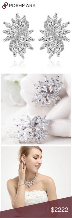 ‼️COMING SOON Swarovski Crystals Bridal Earrings ‼️ ‼️PLEASE LIKE THIS LISTING TO BE NOTIFIED WHEN THEY ARRIVE‼️‼️ Jewelry Earrings