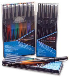 Premier Illustration Marker Sets - brush tip, chisel tip, fine tip