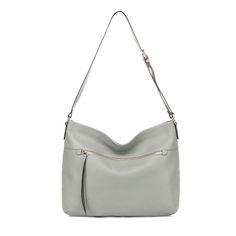 High Quality Designer Cowhide Leather Cross Body Bag Grey RL1341