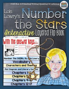 Number the Stars by Lois Lowry Novel Study Literature Guide Flip Book Middle School Writing, Middle School English, 6th Grade Ela, Fourth Grade, Sixth Grade, Guided Reading Questions, Number The Stars, Lois Lowry, Historical Fiction Novels