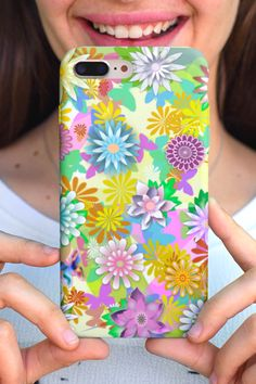 Sending you lots of virtual flowers 💐💐💐 Phone case for iPhone or Samsung. Samsung Cases, Iphone Cases, Virtual Flowers, Phone Covers, Mandala, Floral, Mobile Covers, Flowers