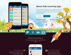 """Check out new work on my @Behance portfolio: """"Web page for kids' learning app portfolio"""" http://be.net/gallery/58335963/Web-page-for-kids-learning-app-portfolio"""