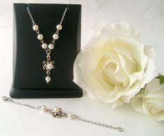 flower girl jewelrytibetan silver ivory pearl flower girl by xxyz, $28.00