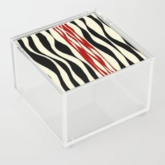 Ebb and Flow - Red & Cream Acrylic Box by laec Good Advice For Life, Storage Places, Acrylic Box, Flow, Cream, Store, Stuff To Buy, Creme Caramel, Storage