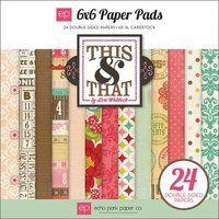 This & That Graceful. Bloc de 24 Papeles Doble Cara 15x15 de Echo Park - paraisoScrap.com