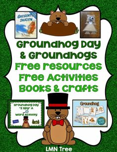 LMN Tree: Groundhog Day: Free Resources, Craft Ideas, Books, and Free Activities Preschool Groundhog, Groundhog Day Activities, Holiday Activities, Preschool Activities, Creative Activities, Kindergarten Social Studies, Kindergarten Lessons, Ground Hog Day Crafts, School Fun