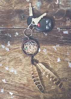 Dream Catcher Keychain by https://SoulMakes.com Boho Dream Catchers