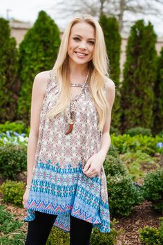 Prints on Prints Tunic - One of our spring favorites!