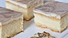 Výborný koláčik z tvarohu a zo salkovou polevou..