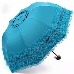 Heart Princess Lace Windproof Folding Sunny and Rainy Umbrella Ultraviolet-Proof Anti Sun UV Protection Parasol Umbrella (Blue) ** FIND OUT MORE INFO @: http://www.best-outdoorgear.com/heart-princess-lace-windproof-folding-sunny-and-rainy-umbrella-ultraviolet-proof-anti-sun-uv-protection-parasol-umbrella-blue/