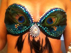 Made to Order Peacock Rave Bra Ezoo EDC by CoutureInWonderland
