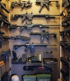 Happy Labor Day, time for some fun! Led Monkey approved 👍🏼🇺🇸 ———————————————————————— Why do you like guns?😎🔫 Credits: —————————————————– 👉🏼🔥LMT gear available! Link in the bio! Zombie Weapons, Weapons Guns, Guns And Ammo, Ninja Weapons, Hidden Gun Storage, Weapon Storage, Airsoft, Gun Closet, Tactical Wall