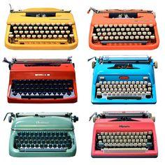 These lovelies would make anyone a great writer. Refurbed vintage typewriters by Kasbah Mod. via @brainpicker