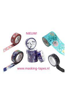 Heb jij al onze nieuwe categorie gezien? Hierin zetten wij alle producten die nieuw zijn toegevoegd. Zo kan je in één oogopslag zien wat de nieuwste trends zijn qua masking tapes, ookwel washi tape genoemd. Op werkdagen vóór 16:00 uur besteld is de volgende dag in huis! Masking Tape, Washi Tape, White Out Tape, Duct Tape