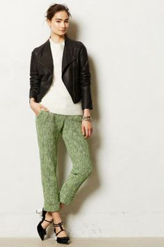 Anthropologie Cropped Tweed Trousers on shopstyle.com