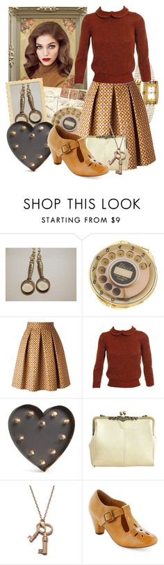 """""""Retro Nancy Drew"""" by larkspurlane ❤ liked on Polyvore featuring Retrò, Kate Spade, Stella Jean, Jil Sander, BESTTIME, We Are All Smith and Chelsea Crew"""