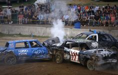 """demolition derby at the """"barbstable county fair"""" cape cod"""