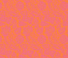 Serpentine fabric: pink & orange