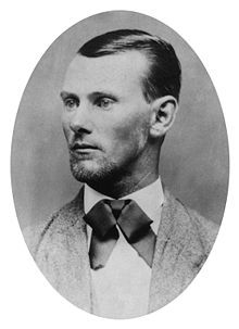 Jesse James - was an American outlaw, gang leader, bank robber, train robber and murderer from the state of Missouri and the most famous member of the James-Younger Gang. Already a celebrity when he was alive, he became a legendary figure of the Wild West  Born 9-5, 1847 Kearney, Missouri, U.S. Died April 3, 1882 (aged 34)   St. Joseph, Missouri, U.S. killed by Robert Ford
